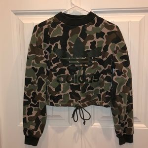 Camo Adidas cropped sweater